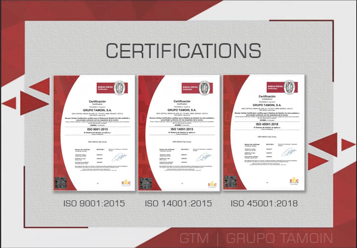 GTM News | New Certifications ISO 9001:2015, ISO 14001:2015 and ISO 45001:2018
