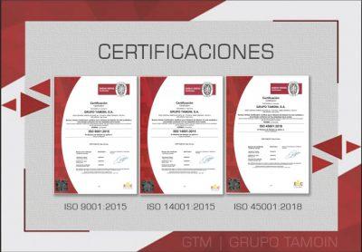 GTM Nuevas Certificaciones ISO