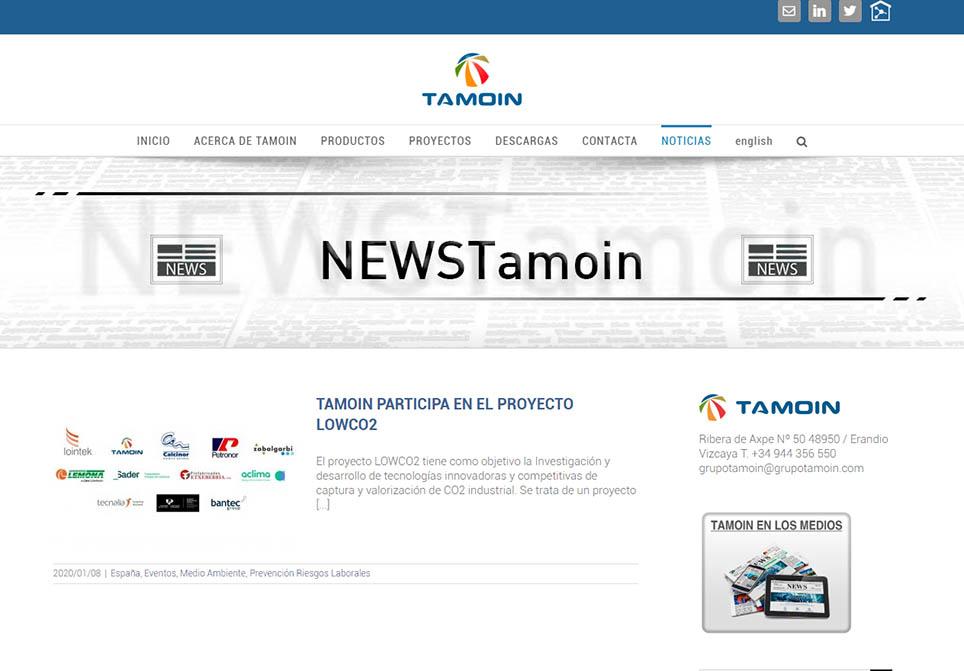 GTM Noticias | Tamoin participa en el Proyecto LOWCO2, en la lucha contra el cambio climático